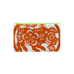 Chinese Zodiac Horoscope Pig Star Orange Cosmetic Bag (xs) by Mariart