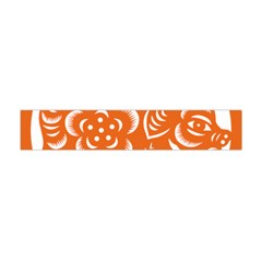 Chinese Zodiac Horoscope Pig Star Orange Flano Scarf (mini) by Mariart
