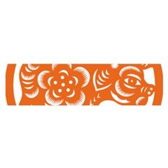 Chinese Zodiac Horoscope Pig Star Orange Satin Scarf (oblong) by Mariart