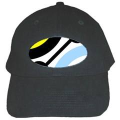Circle Line Chevron Wave Black Blue Yellow Gray White Black Cap
