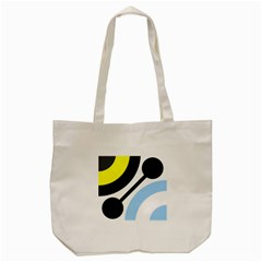 Circle Line Chevron Wave Black Blue Yellow Gray White Tote Bag (cream) by Mariart