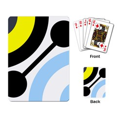 Circle Line Chevron Wave Black Blue Yellow Gray White Playing Card by Mariart