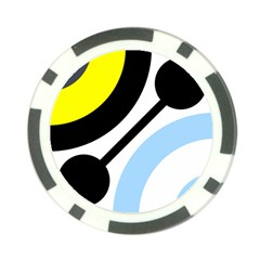 Circle Line Chevron Wave Black Blue Yellow Gray White Poker Chip Card Guard