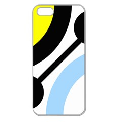 Circle Line Chevron Wave Black Blue Yellow Gray White Apple Seamless Iphone 5 Case (clear) by Mariart