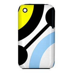Circle Line Chevron Wave Black Blue Yellow Gray White Iphone 3s/3gs by Mariart