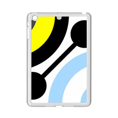 Circle Line Chevron Wave Black Blue Yellow Gray White Ipad Mini 2 Enamel Coated Cases by Mariart