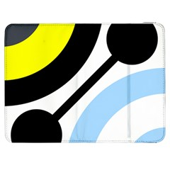 Circle Line Chevron Wave Black Blue Yellow Gray White Samsung Galaxy Tab 7  P1000 Flip Case by Mariart