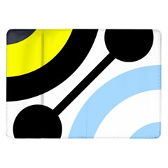 Circle Line Chevron Wave Black Blue Yellow Gray White Samsung Galaxy Tab 10 1  P7500 Flip Case by Mariart