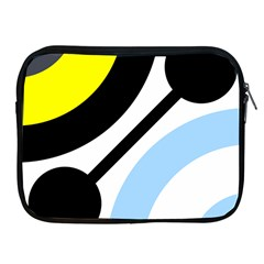 Circle Line Chevron Wave Black Blue Yellow Gray White Apple Ipad 2/3/4 Zipper Cases by Mariart