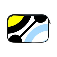 Circle Line Chevron Wave Black Blue Yellow Gray White Apple Ipad Mini Zipper Cases by Mariart