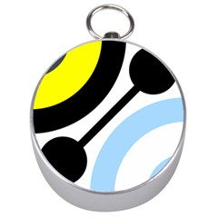 Circle Line Chevron Wave Black Blue Yellow Gray White Silver Compasses by Mariart