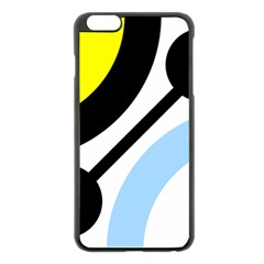 Circle Line Chevron Wave Black Blue Yellow Gray White Apple Iphone 6 Plus/6s Plus Black Enamel Case