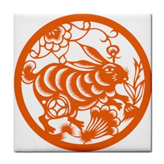 Chinese Zodiac Horoscope Rabbit Star Orange Face Towel by Mariart