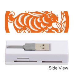 Chinese Zodiac Horoscope Rabbit Star Orange Memory Card Reader (stick)  by Mariart