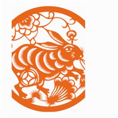 Chinese Zodiac Horoscope Rabbit Star Orange Small Garden Flag (two Sides) by Mariart