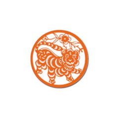 Chinese Zodiac Signs Tiger Star Orangehoroscope Golf Ball Marker (10 Pack) by Mariart