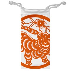 Chinese Zodiac Signs Tiger Star Orangehoroscope Jewelry Bag by Mariart