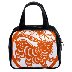 Chinese Zodiac Signs Tiger Star Orangehoroscope Classic Handbags (2 Sides) by Mariart