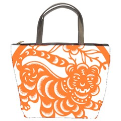Chinese Zodiac Signs Tiger Star Orangehoroscope Bucket Bags