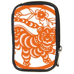 Chinese Zodiac Signs Tiger Star Orangehoroscope Compact Camera Cases by Mariart