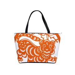 Chinese Zodiac Signs Tiger Star Orangehoroscope Shoulder Handbags by Mariart