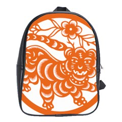 Chinese Zodiac Signs Tiger Star Orangehoroscope School Bags(large)