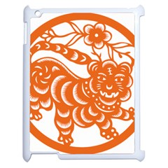 Chinese Zodiac Signs Tiger Star Orangehoroscope Apple Ipad 2 Case (white) by Mariart