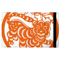 Chinese Zodiac Signs Tiger Star Orangehoroscope Apple Ipad 3/4 Flip Case by Mariart