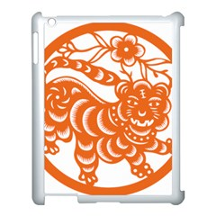 Chinese Zodiac Signs Tiger Star Orangehoroscope Apple Ipad 3/4 Case (white) by Mariart
