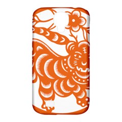 Chinese Zodiac Signs Tiger Star Orangehoroscope Samsung Galaxy S4 Classic Hardshell Case (pc+silicone) by Mariart
