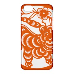 Chinese Zodiac Signs Tiger Star Orangehoroscope Apple Iphone 5c Hardshell Case by Mariart