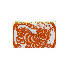 Chinese Zodiac Signs Tiger Star Orangehoroscope Cosmetic Bag (xs) by Mariart