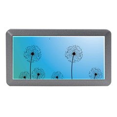 Flower Back Blue Green Sun Fly Memory Card Reader (mini) by Mariart