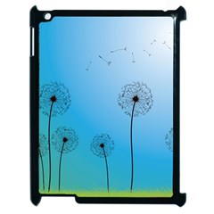 Flower Back Blue Green Sun Fly Apple Ipad 2 Case (black) by Mariart