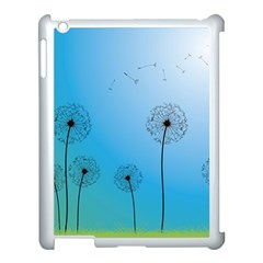 Flower Back Blue Green Sun Fly Apple Ipad 3/4 Case (white) by Mariart