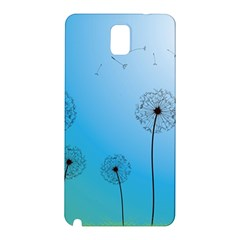 Flower Back Blue Green Sun Fly Samsung Galaxy Note 3 N9005 Hardshell Back Case by Mariart