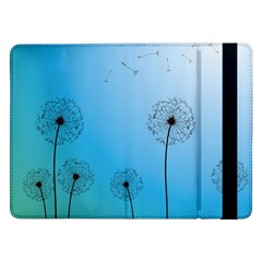 Flower Back Blue Green Sun Fly Samsung Galaxy Tab Pro 12 2  Flip Case by Mariart
