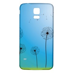 Flower Back Blue Green Sun Fly Samsung Galaxy S5 Back Case (white) by Mariart