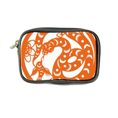 Chinese Zodiac Horoscope Snake Star Orange Coin Purse by Mariart