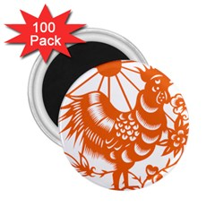 Chinese Zodiac Horoscope Zhen Icon Star Orangechicken 2 25  Magnets (100 Pack)  by Mariart
