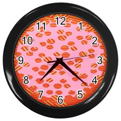 Distance Absence Sea Holes Polka Dot Line Circle Orange Chevron Wave Wall Clocks (black) by Mariart