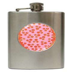 Distance Absence Sea Holes Polka Dot Line Circle Orange Chevron Wave Hip Flask (6 Oz) by Mariart