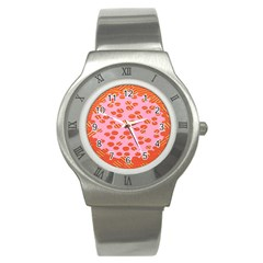 Distance Absence Sea Holes Polka Dot Line Circle Orange Chevron Wave Stainless Steel Watch by Mariart