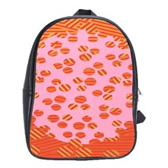 Distance Absence Sea Holes Polka Dot Line Circle Orange Chevron Wave School Bags(large)