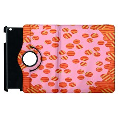 Distance Absence Sea Holes Polka Dot Line Circle Orange Chevron Wave Apple Ipad 2 Flip 360 Case by Mariart