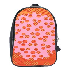 Distance Absence Sea Holes Polka Dot Line Circle Orange Chevron Wave School Bags (xl)  by Mariart