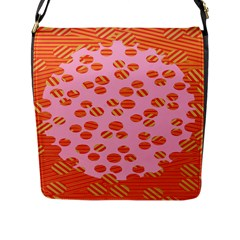 Distance Absence Sea Holes Polka Dot Line Circle Orange Chevron Wave Flap Messenger Bag (l)  by Mariart
