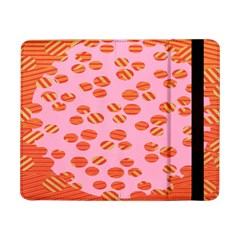 Distance Absence Sea Holes Polka Dot Line Circle Orange Chevron Wave Samsung Galaxy Tab Pro 8 4  Flip Case by Mariart