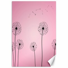 Flower Back Pink Sun Fly Canvas 24  X 36  by Mariart