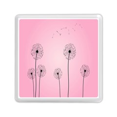 Flower Back Pink Sun Fly Memory Card Reader (square)  by Mariart